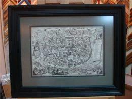 Оформление географических карт в багет